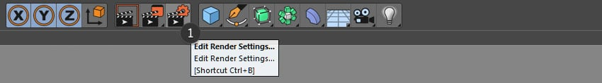 Selecting the Render Settings button