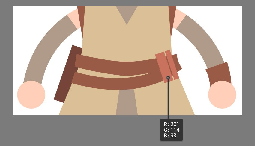 Creating the belt accessories using the Pen Tool or Rectangle Tool