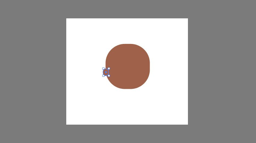 Creating the ears using the Rounded Rectangle Tool