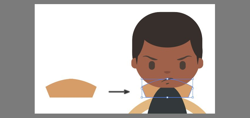 Creating the collar using the Pen Tool