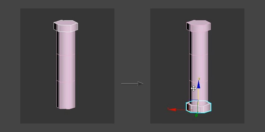 Duplicate the top cylinder