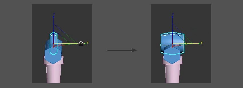 Adjust the shape in the Y Axis
