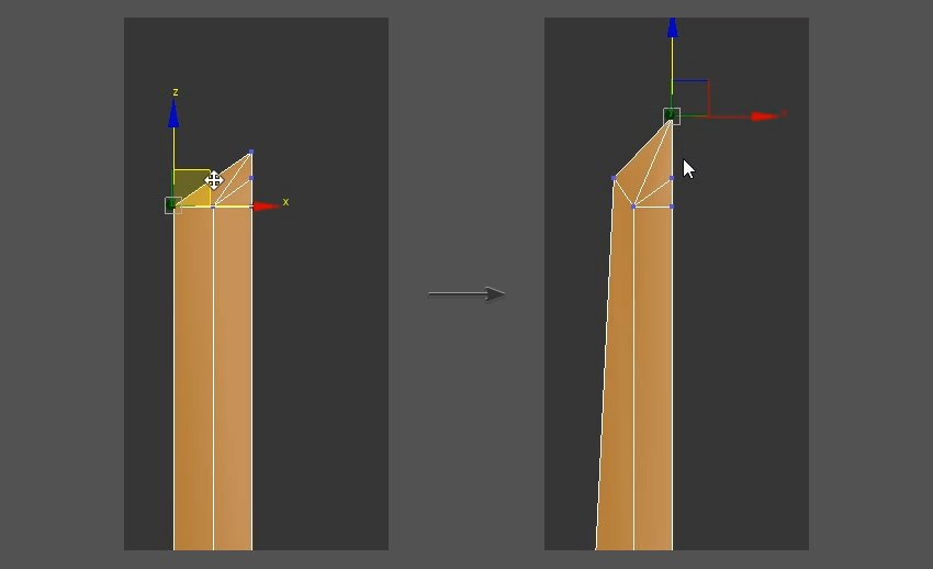 Continue to adjust the vertices