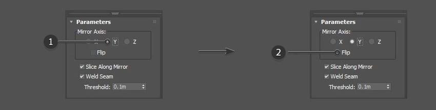 Edit the mirror parameters