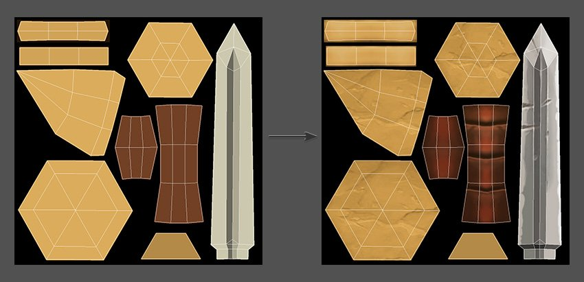 Create some details for the texture map