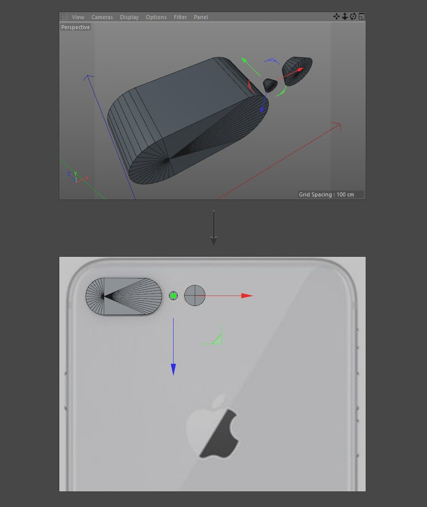 Create objects for the iPhone camera