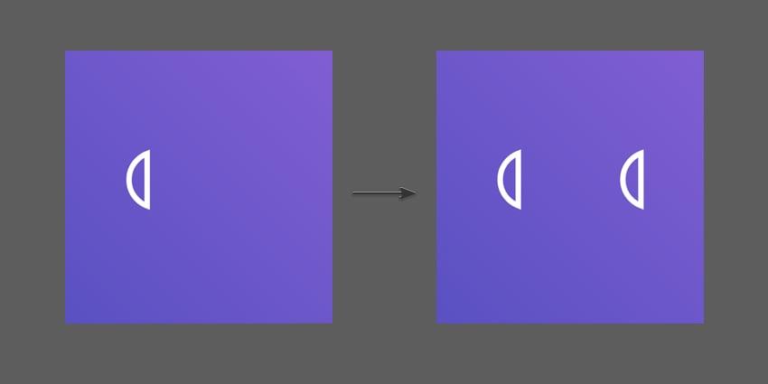 Duplicate the new semi circle