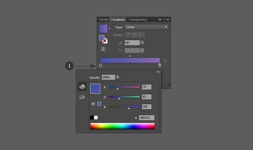 Adjust the left gradient color