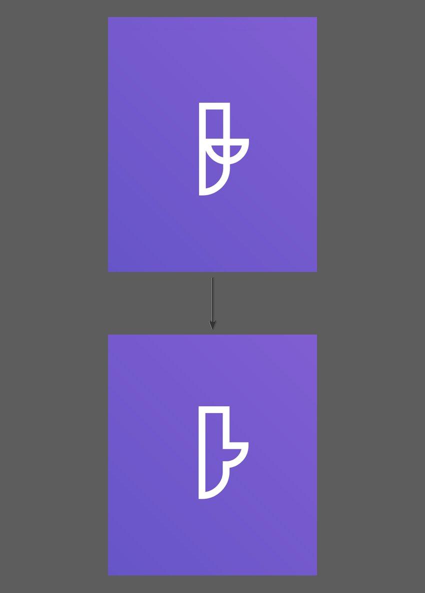 Combine the strokes using the Unite button