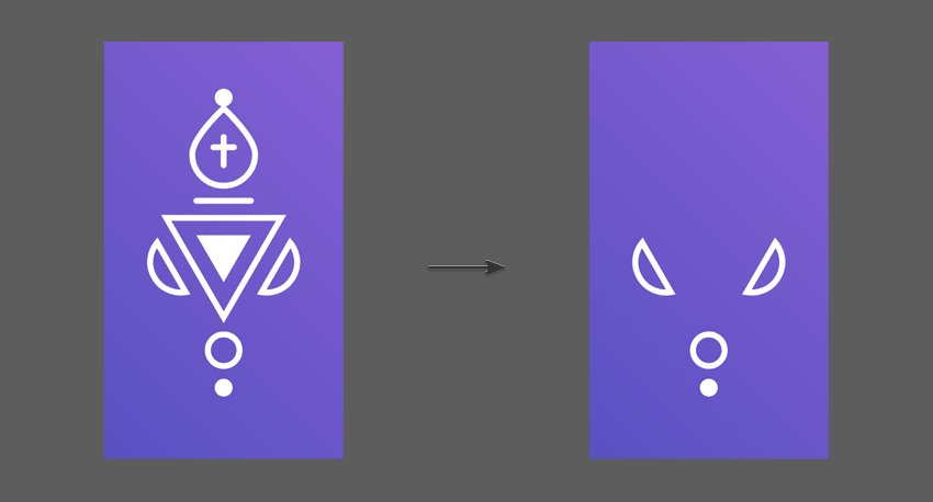 Duplicate the Bishop icon and delete the middle shapes
