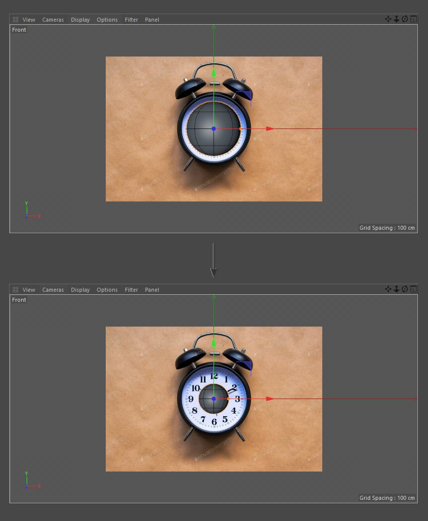 Resize the Sphere object using the Scale Tool