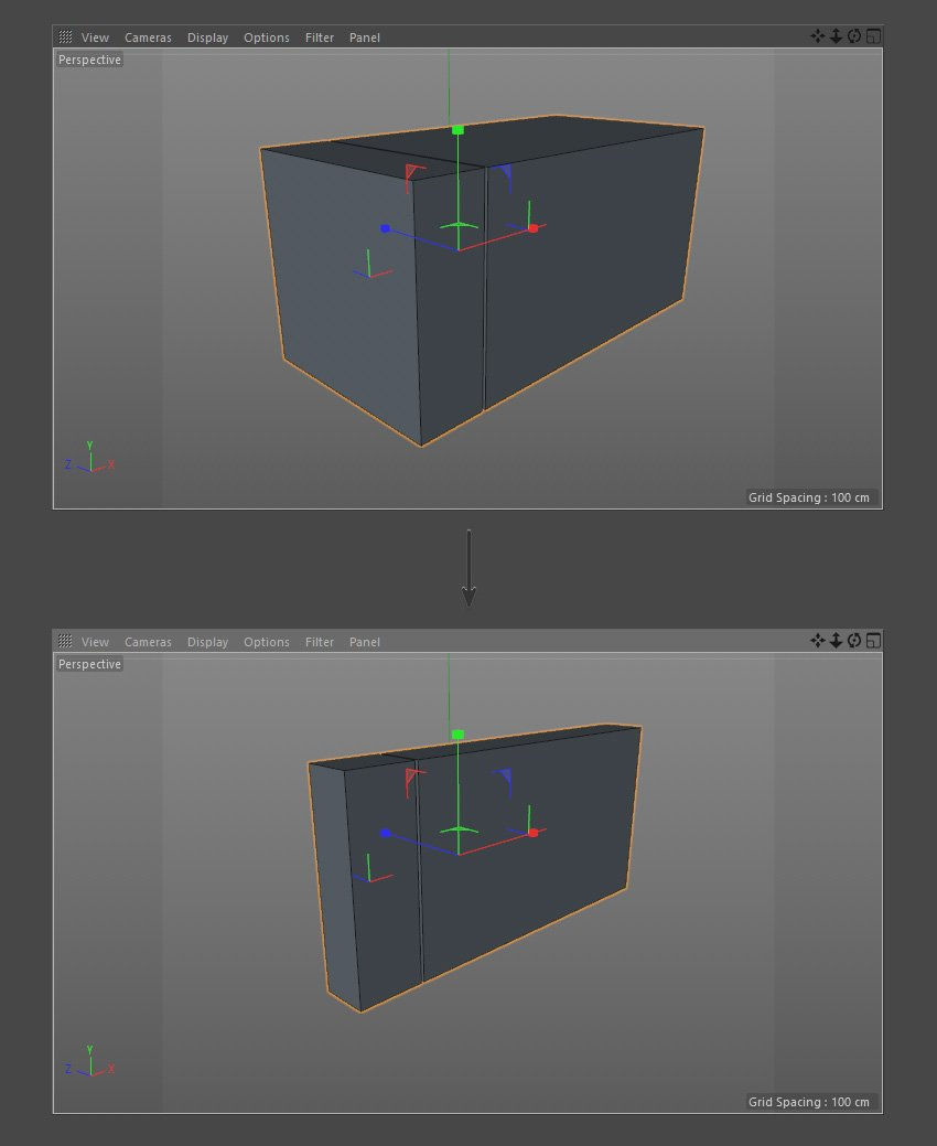Scale the width of the cube objects