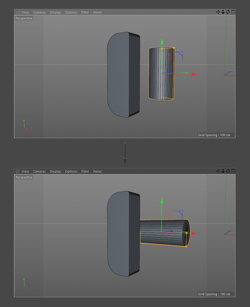 Rotate the Cylinder object