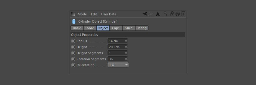 Adjust the object properties