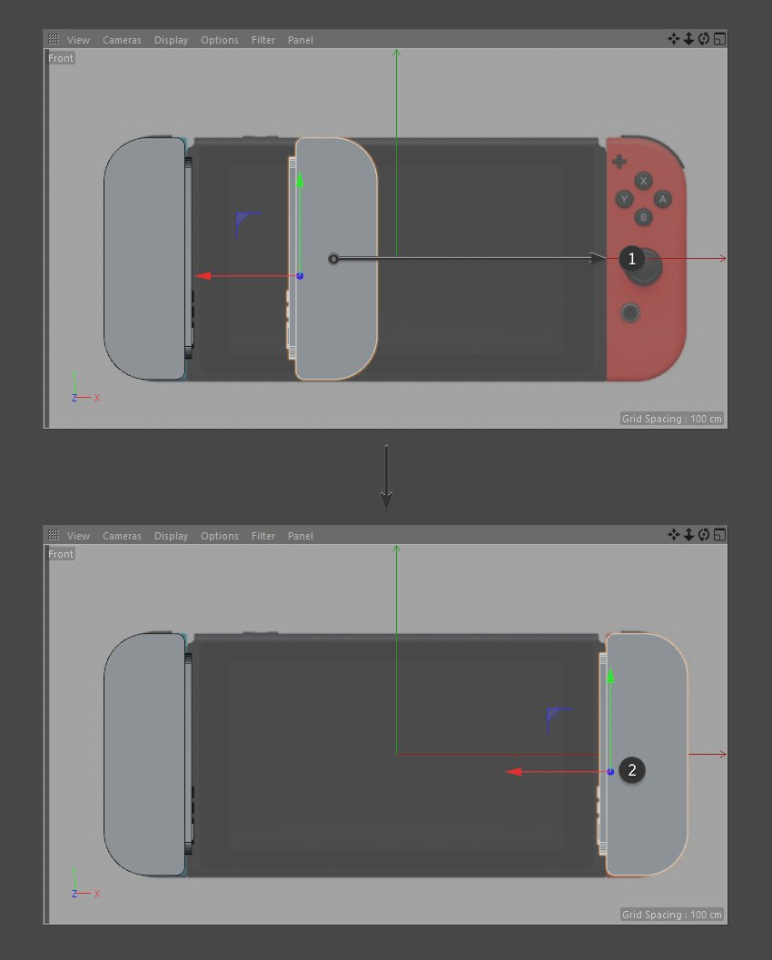 Place Joy-Con in the right position