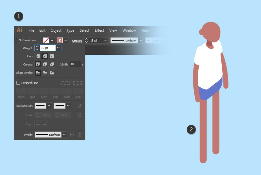 Create isometric legs