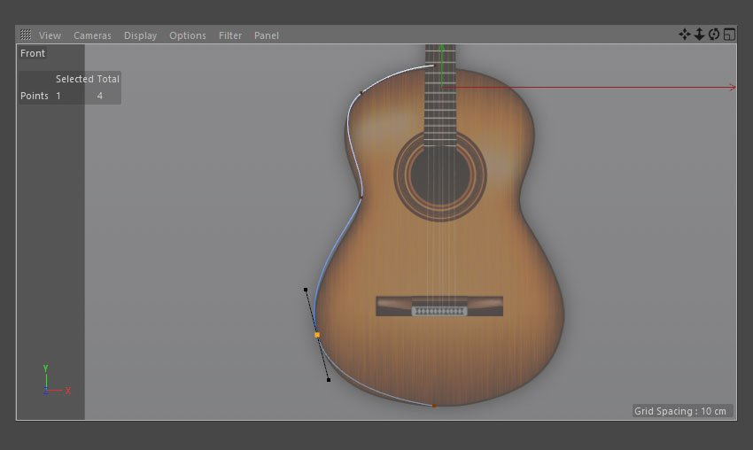 Use Pen Tool to draw outline of guitar body