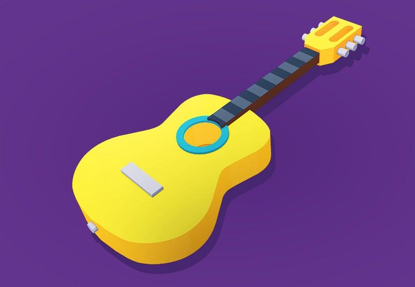 Final 3D guitar model