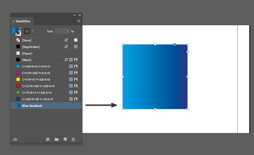 Apply gradient to object