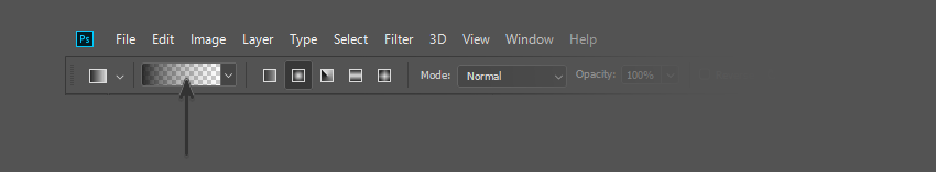 Select the Gradient Bar