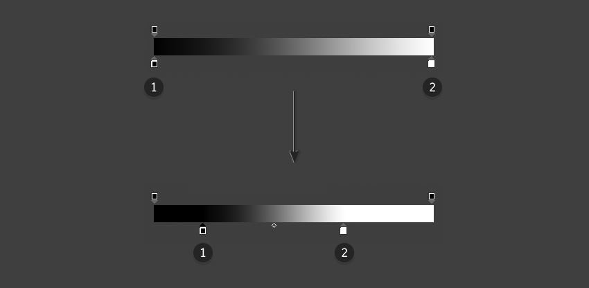 Moving color stops for sharper gradients