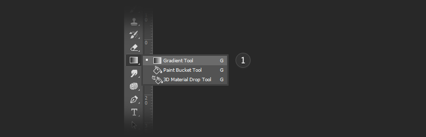 Select the Gradient Tool