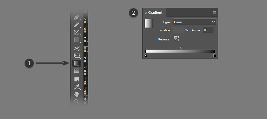 Use the Gradient Tool and Panel in InDesign