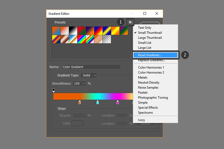 Reset gradients