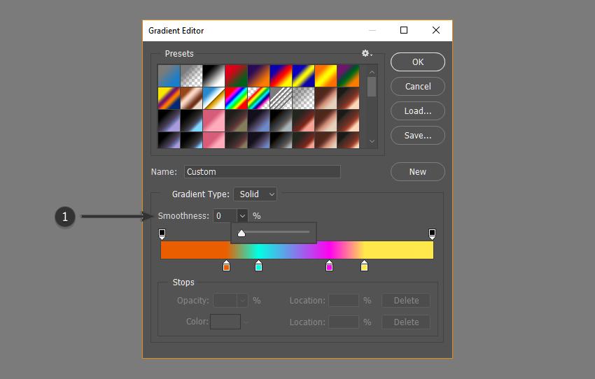 Adjust smoothness of gradient
