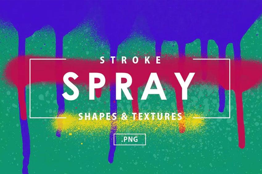 69 Stroke Spray Shapes