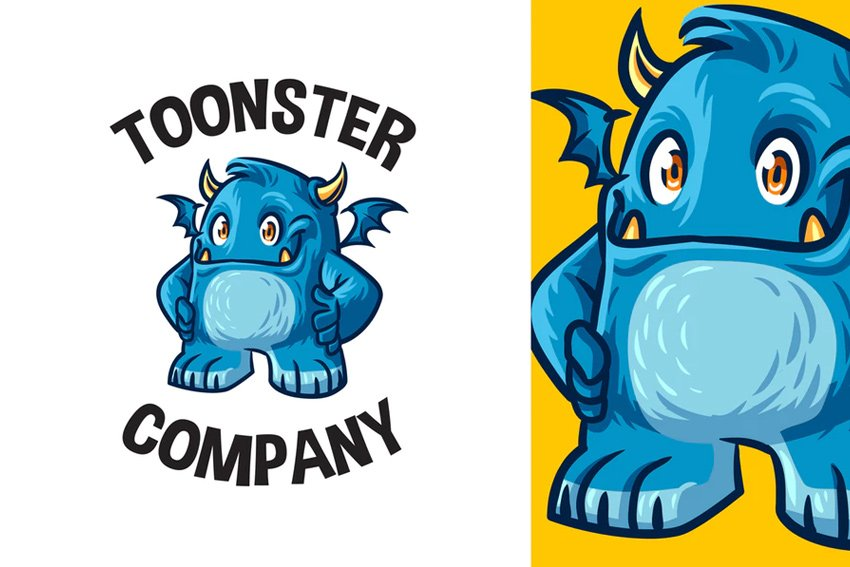 blue monster mascot