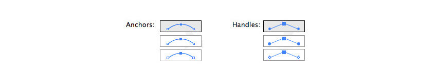 Choose how anchor points are displayed