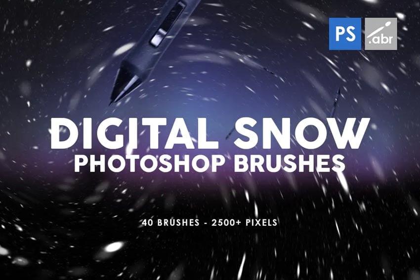 Digital Snow Photoshop Brushes