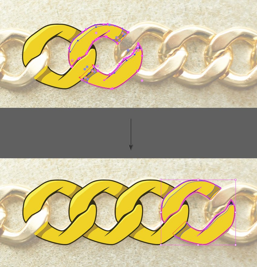 Create chain links