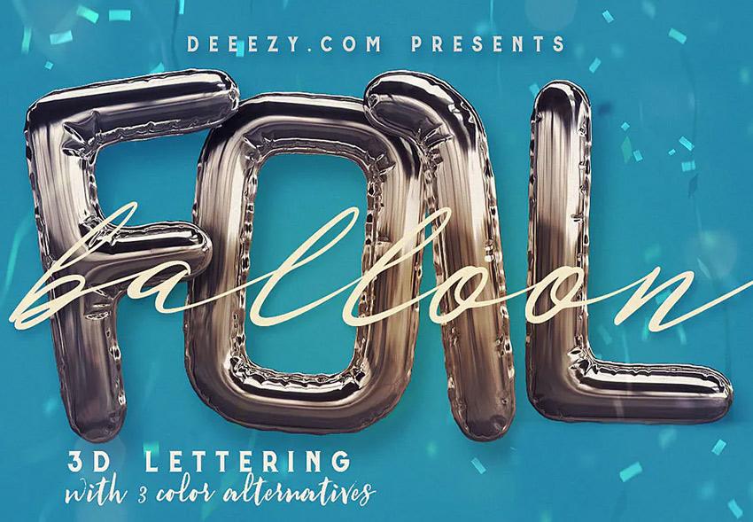 foil balloon 3D lettering