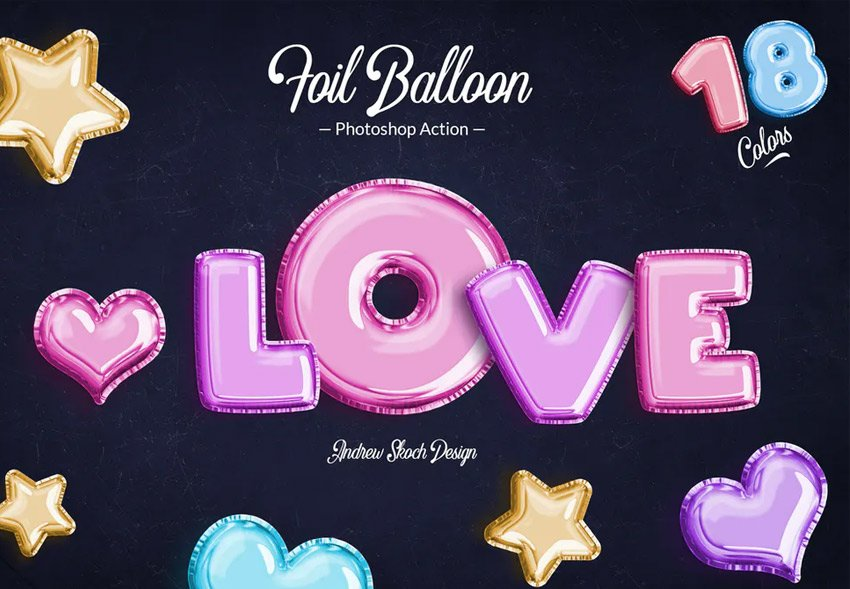 foil balloon from envato elements