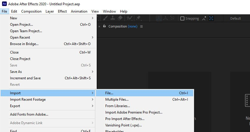 import image into After Effects