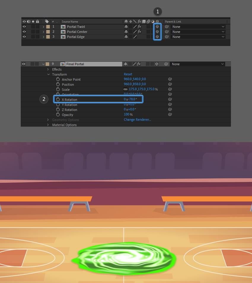 make layer 3D