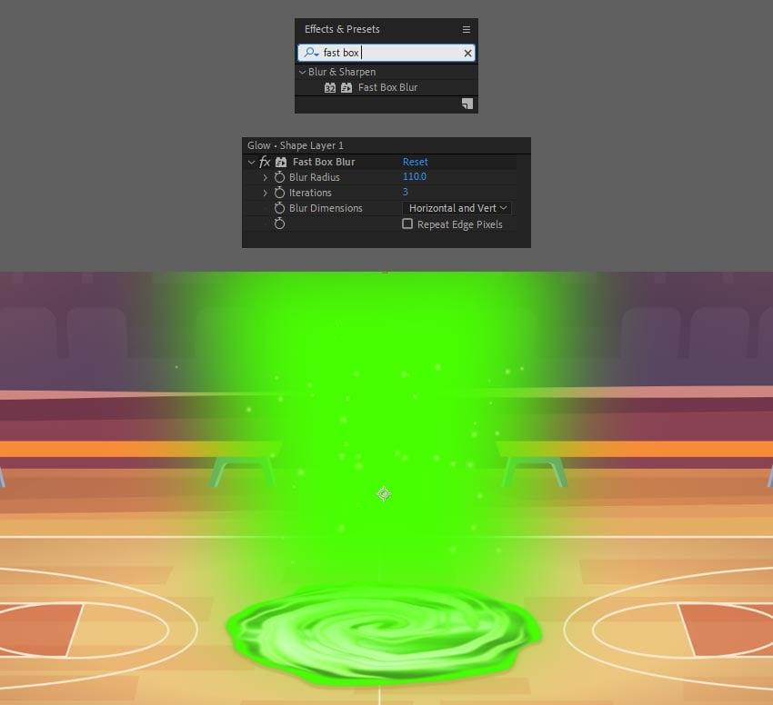 apply blur effect