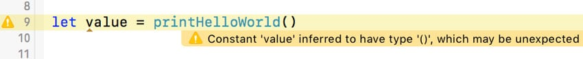 The Compiler Shows a Warning