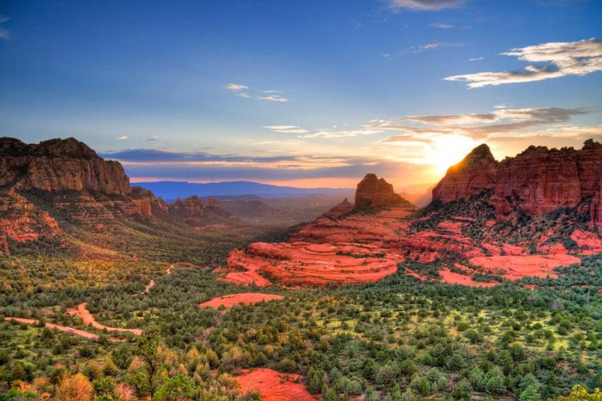 red rocks landscape photograph