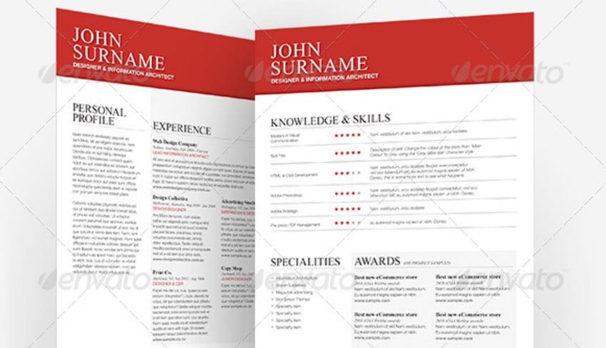 Clean Typographic Resume
