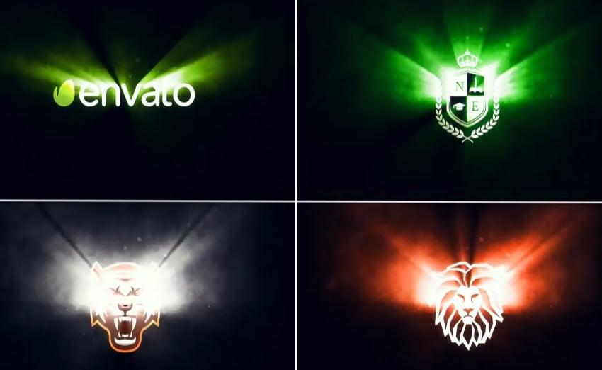 Cinematic Light Rays Logo
