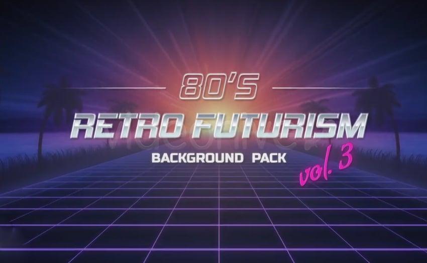 80s Retro Futurism Background Pack vol3 4K