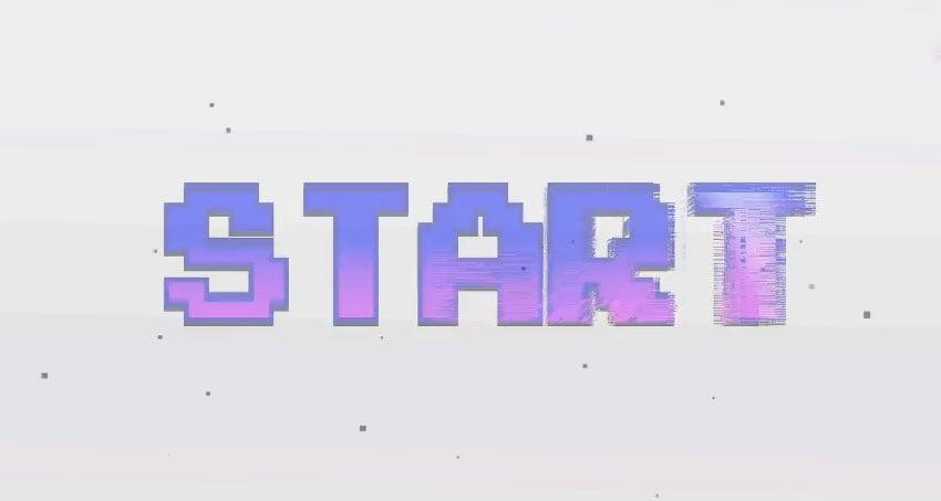 Arcade Text Maker 8bit Glitch Titles