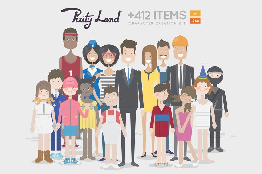 PixityLand-Character Creator Kit