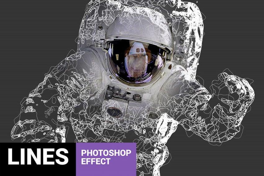 Fibrum - Lines Art Photoshop Action