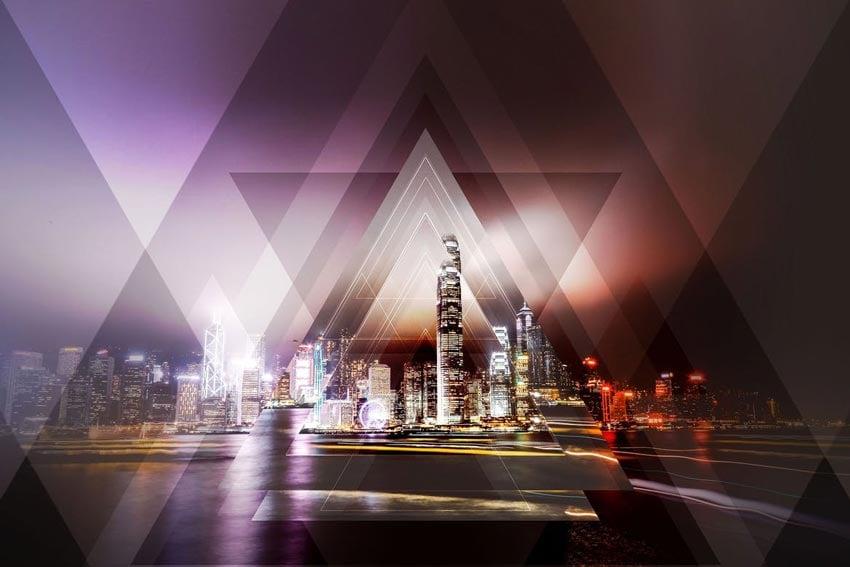 Geometric Haze 2 Photoshop Action