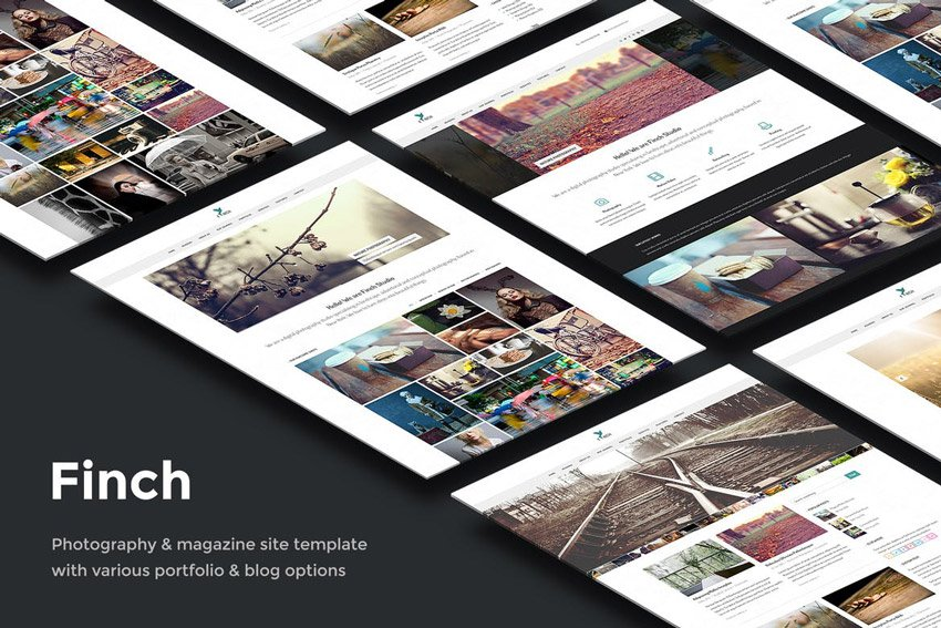 Finch Photography Magazine Site Template