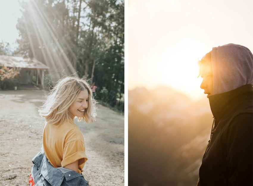the two images Ill be using from Unsplash